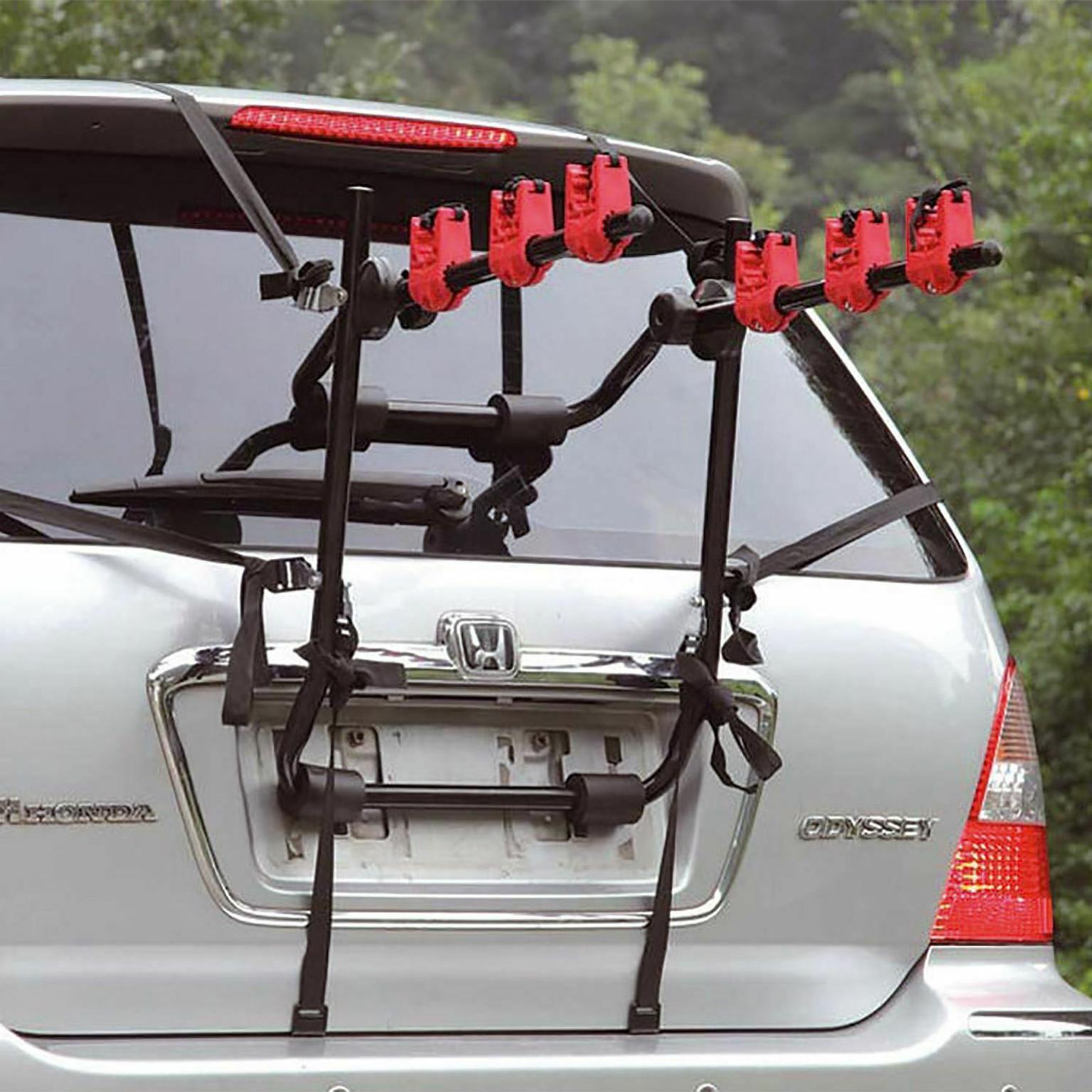 3 bike bicycle carrier car rack holder