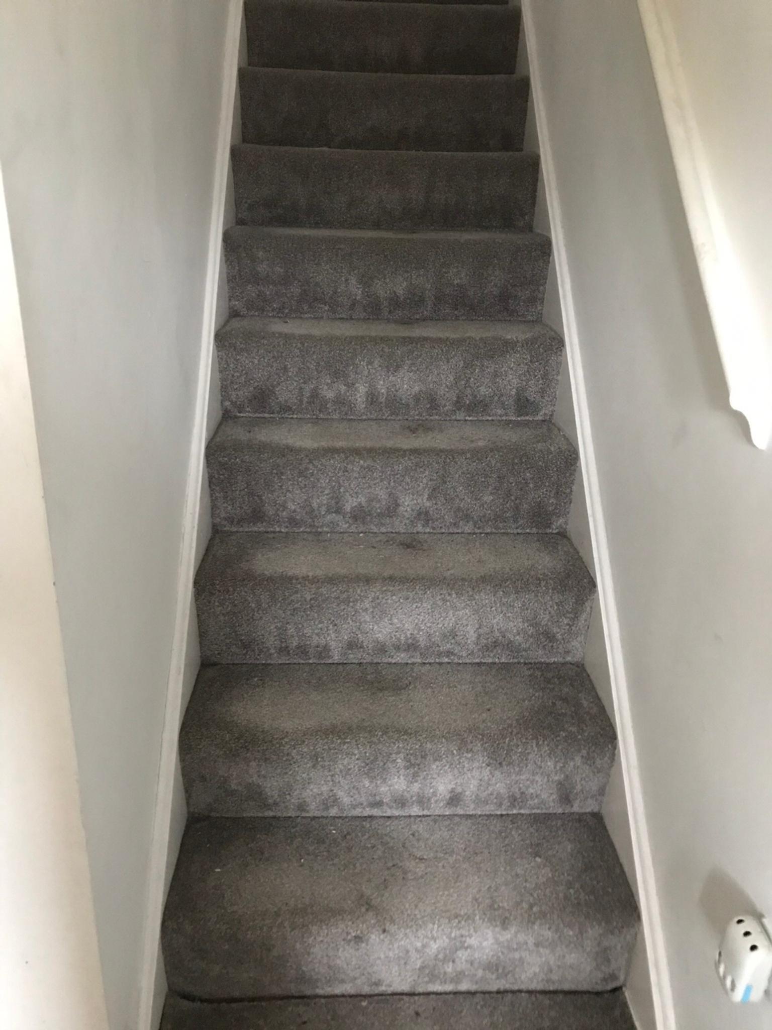 Grey Stair Carpet Also Underlay If You Need In Cv22 Rugby For | Light Grey Carpet Stairs | Industrial | Runner | Modern | Grey Vinyl Flooring | Living Room