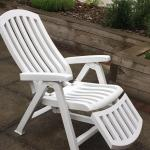White Reclining Garden Chair