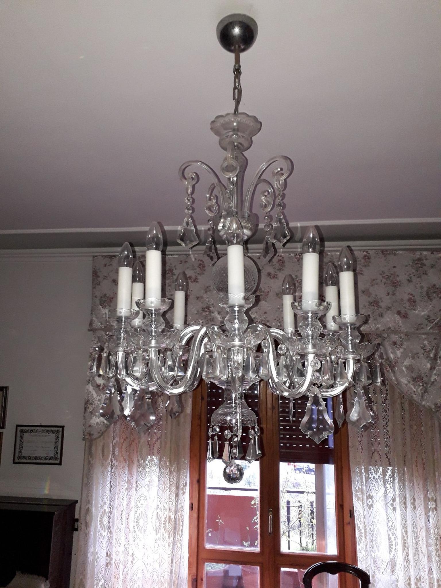 Isa project arredamento casa e azienda   compra online o. Lampadario In Cristallo Di Boemia 10 Luci In 00015 Monterotondo For 200 00 For Sale Shpock