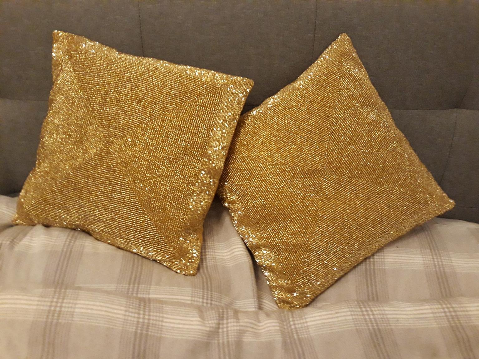 laura ashley gold beaded cushions