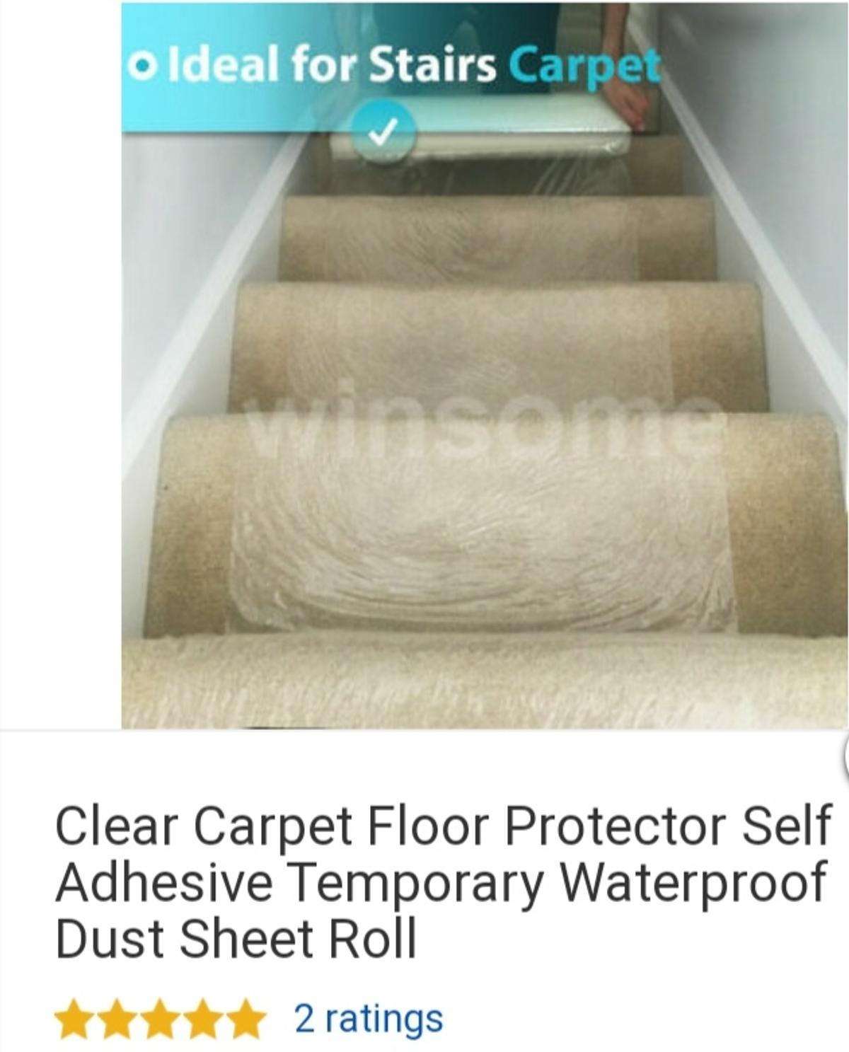 4 Rolls Of Clear Quality Carpet Protector In Nw1 Camden For £20 00 | Temporary Carpet For Stairs | Non Slip | Stair Treads | Tile | Protection | Plastic