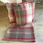 Dunelm Highland Red Check Bundle Curtains Etc In St15 Stafford For 85 00 For Sale Shpock