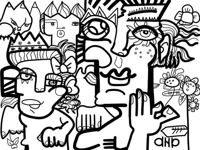 Animation de Réunion Digitale fresque ana artiste webinaire.games outil de leadership collaboratif art social fresque digitale ana