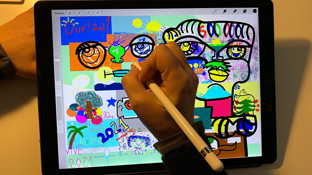 Animation Digitale Fresque art social aNa artiste à distance
