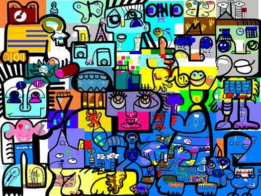Exercice de Cohésion à Distance fresque télétravail aNa artiste webinaire.games outil de leadership collaboratif