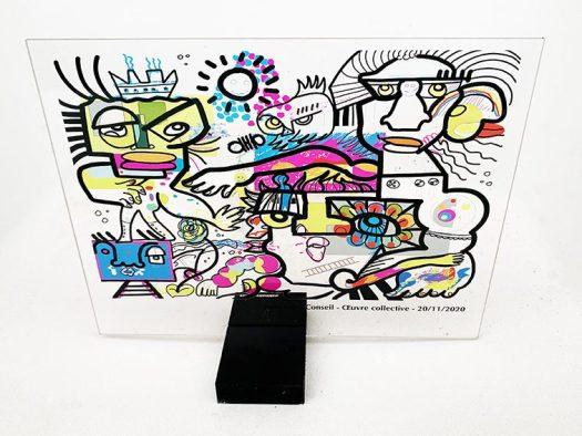 Idée Cadeau Animation Télétravail outil de leadership Collaboratif fresque reproduction goodies digitale virtuelle aNa artiste
