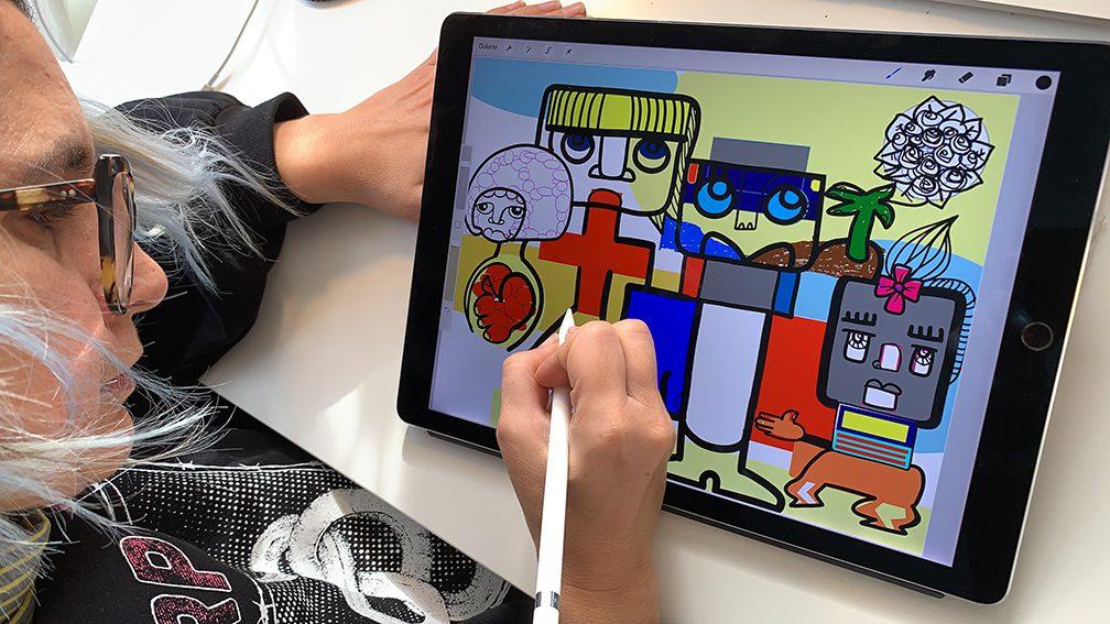 Fresque Œuvre Collective Fresque Collective pour les droits de l'enfant Télétravail ana artiste webinaire.games