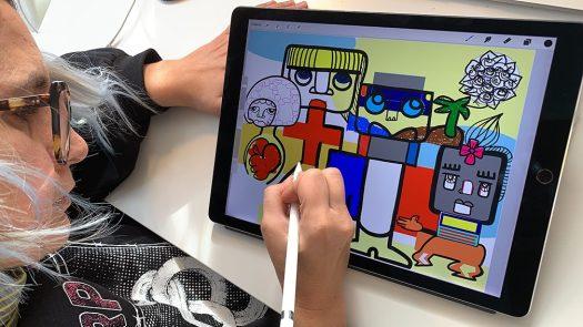 Fresque Œuvre Collective Télétravail ana artiste webinaire.games