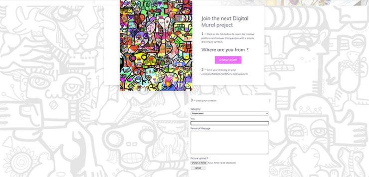 fresque collaborative Virtuelle par ana artiste