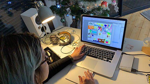Idée Team Building Télétravail œuvre commune digitale à distance