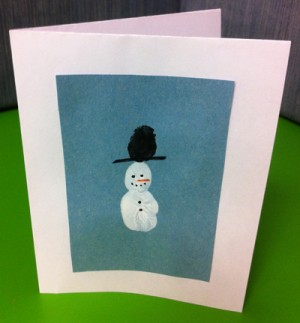 How To Make Your Own Thumbprint Snowman Christmas Cards