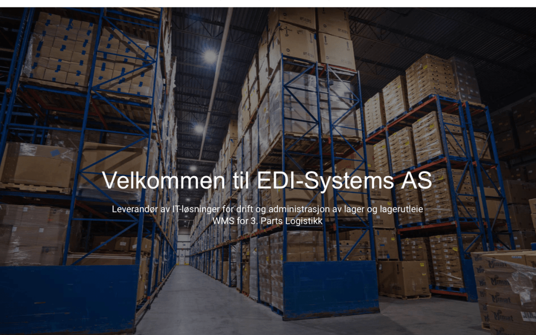 Nettside for EDI Systems AS