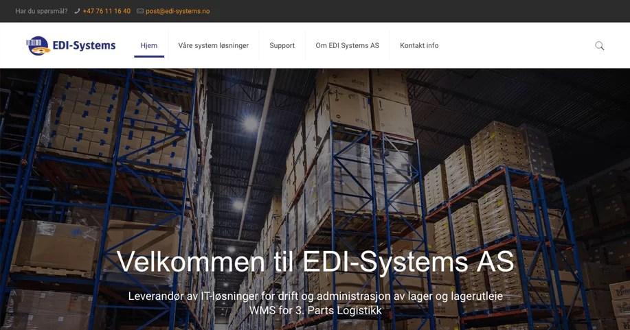 1ed6e2b7 Gratulerer med ny hjemmeside til EDI Systems AS | Webkonsepter.no