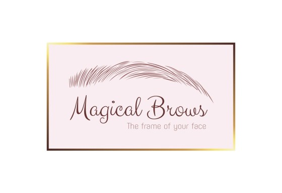 Magical Brows logo & branding