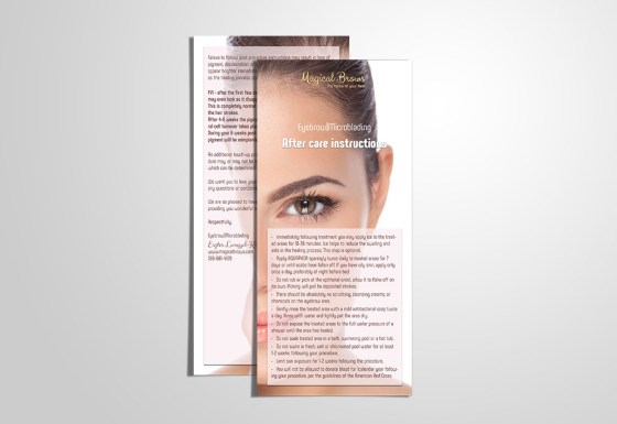 Magical Brows flyer