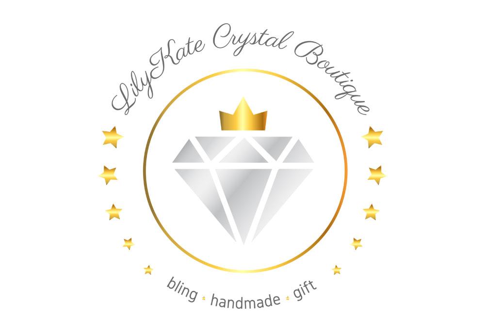 LilyKate Crystal Boutique logo design
