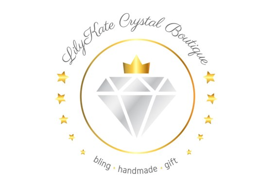 LilyKate Crystal Boutique logo design