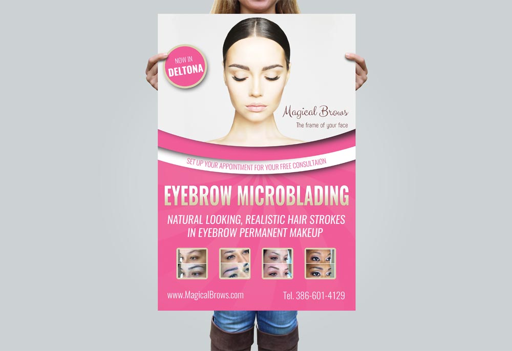 Poster design for Magical Brows