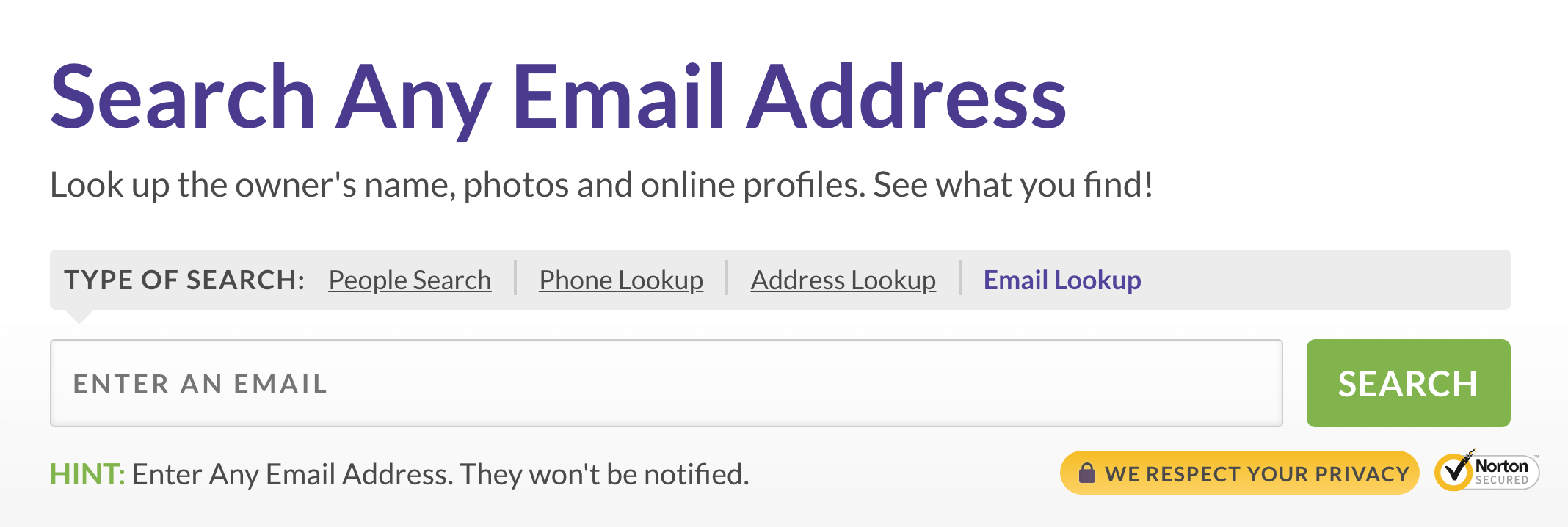example of reverse email search tool