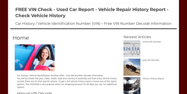 Free Vin Check Report