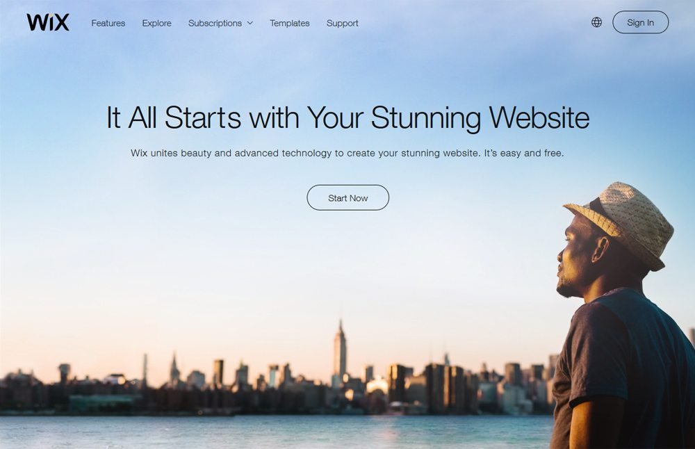 Develop A Free Blog For Writers through wix