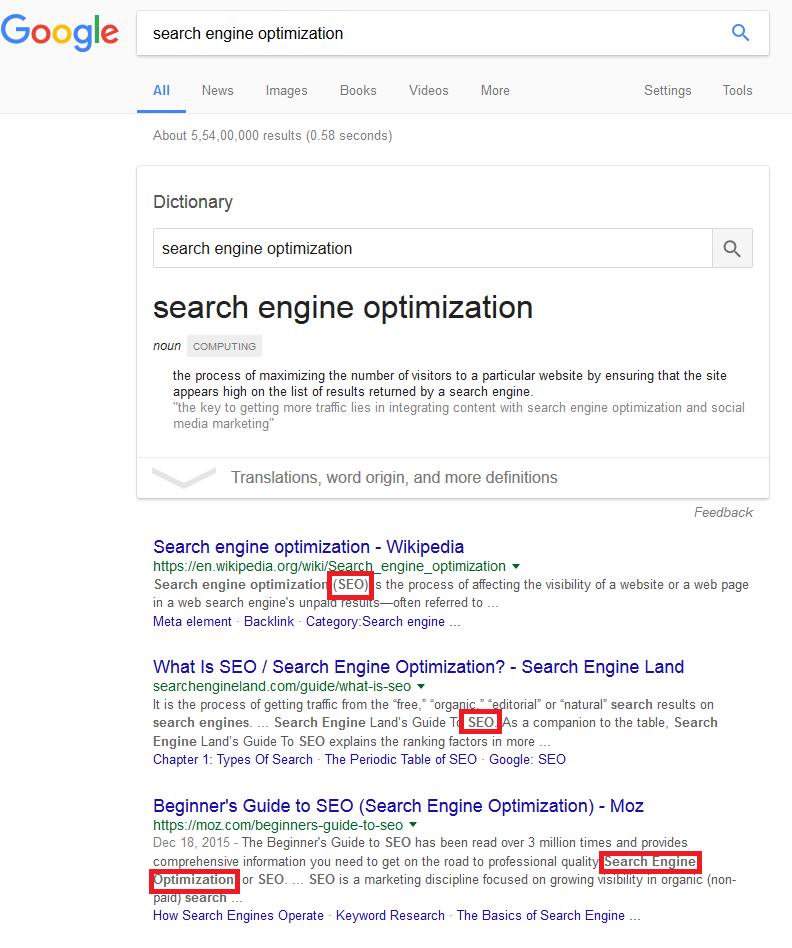 lsi keywords on google search