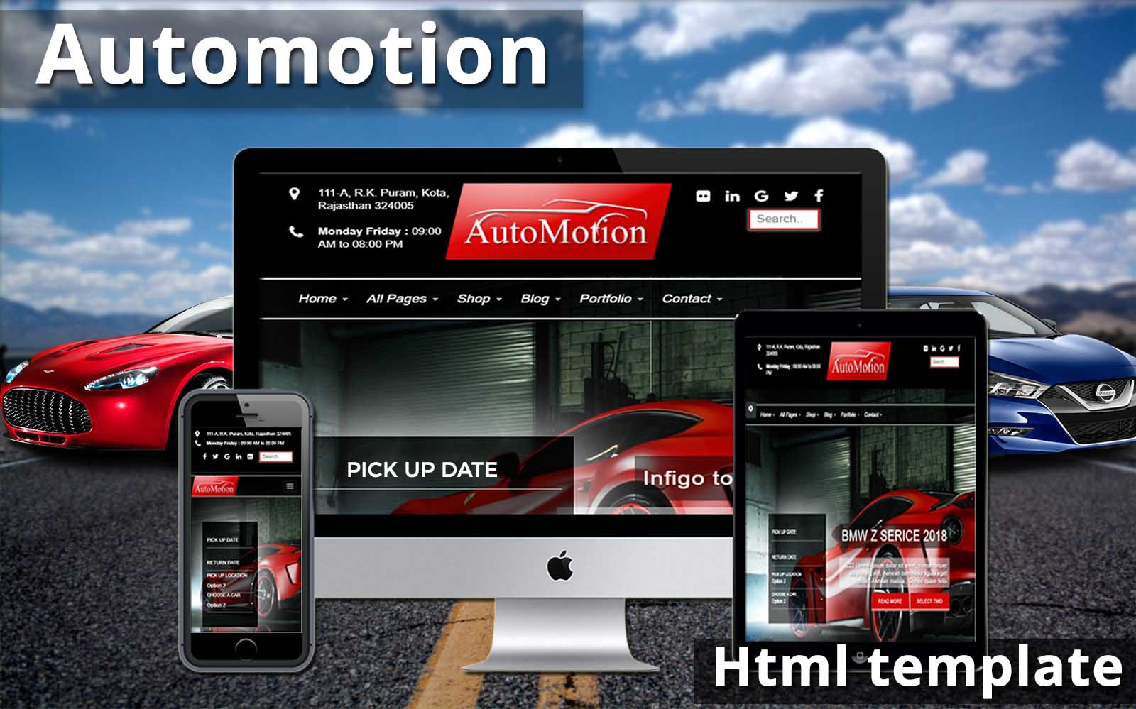 automotion html template