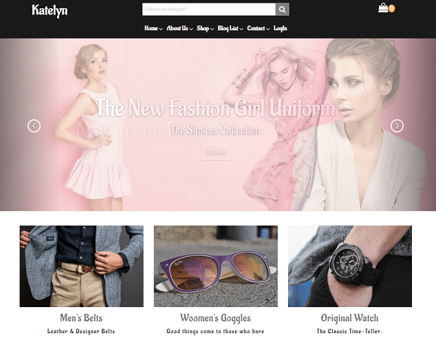 kaetlyn premium html website templates