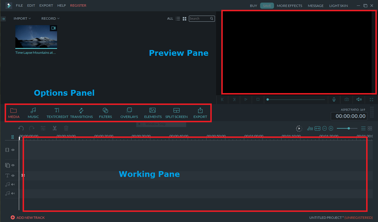 best video editing software filmora user interface