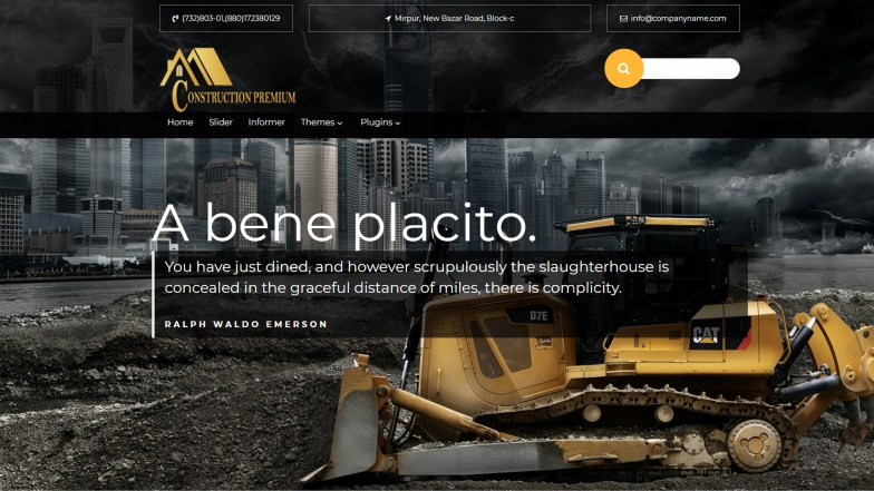 Weblizar Launch E-commerce Construction Wedding WordPress Themes