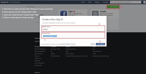 Facebook App Id and App Secret Id - Weblizar Blog