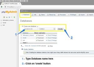 """Create New Database - """"wordpress-db"""""""