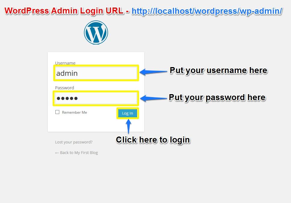 Login to WordPress Admin Dashboard