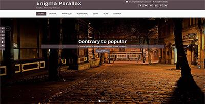 enigma parallax one page wordpress theme