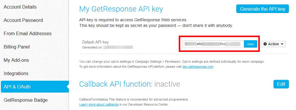 Getresponse-API-key-generate