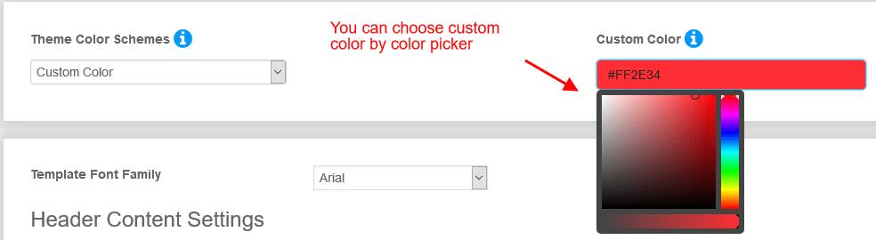newsletter-Skin-layout-custom-color-settings