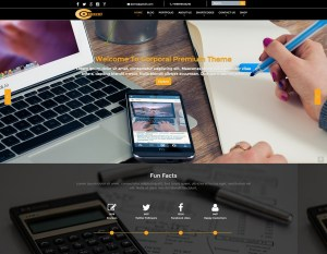 Responsive Corporal Premium Weblizar WordPress Theme