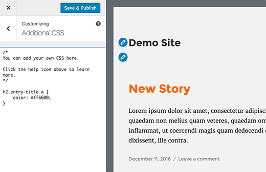 css-preview-How-To-Customize-WordPress-site-By-Adding-Custom-CSS