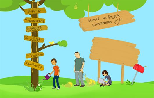 somoslaperalimonera-illustrated-web-design