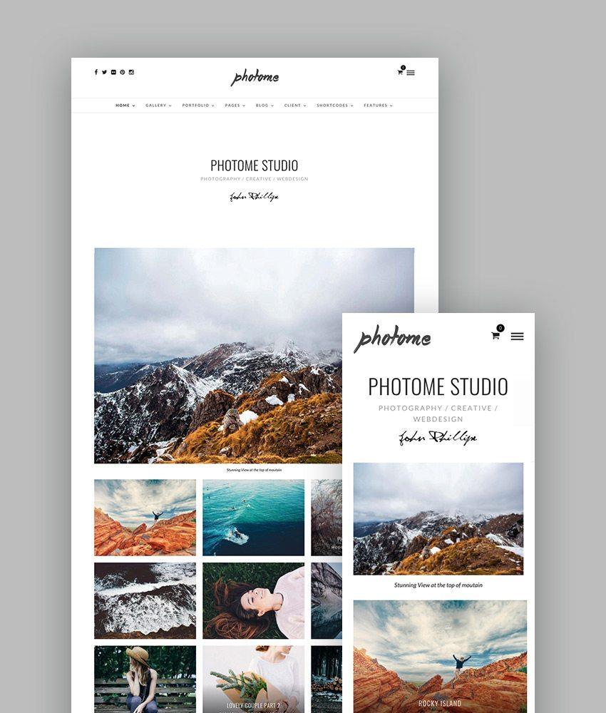 best wordpress themes photome