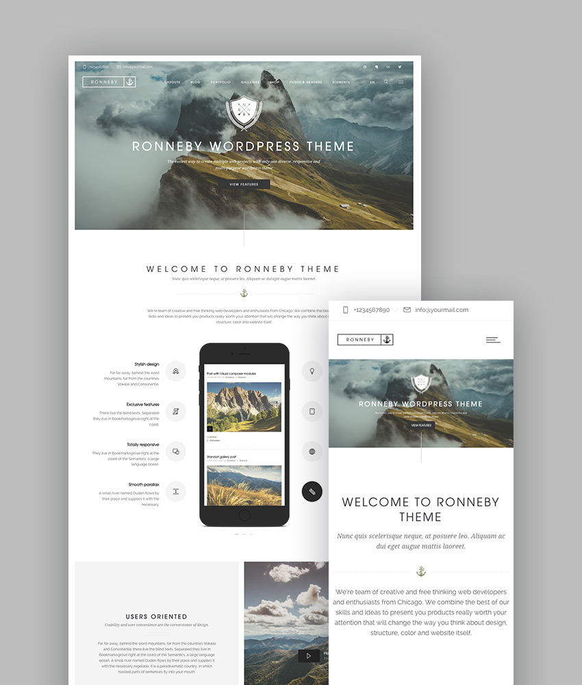 best wordpress themes ronneby