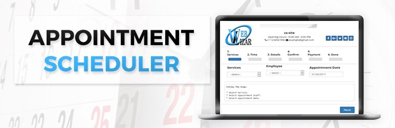 Image of appointment scheduler wordpress plugin