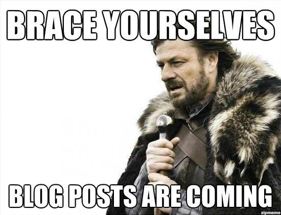 blogging is important for your business meme featuring ned stark