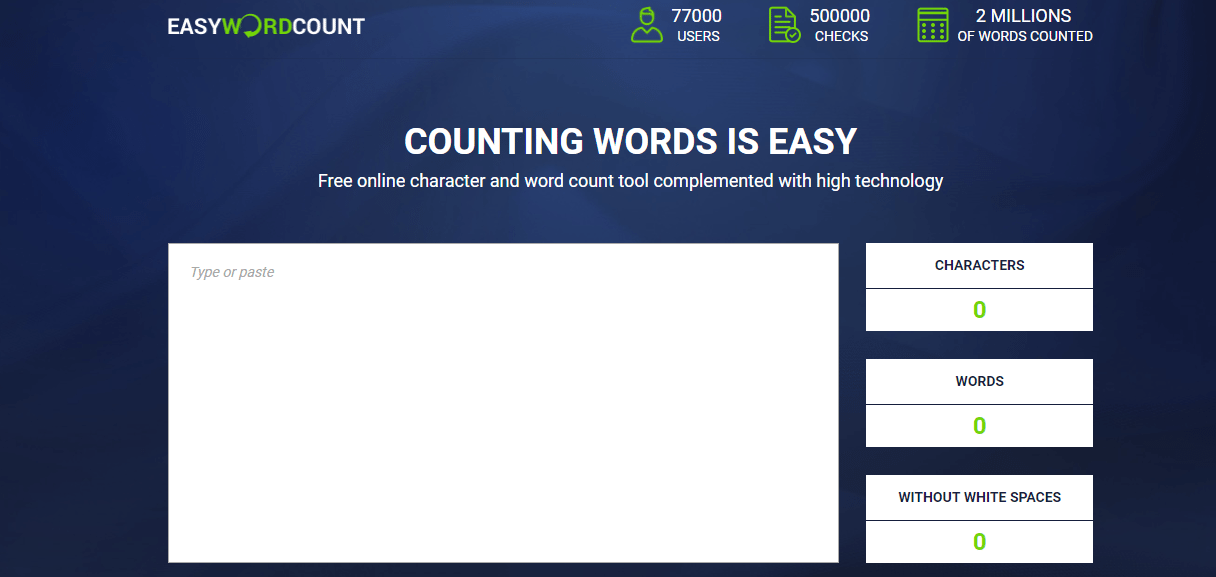easywordcount Write SEO Optimized Content