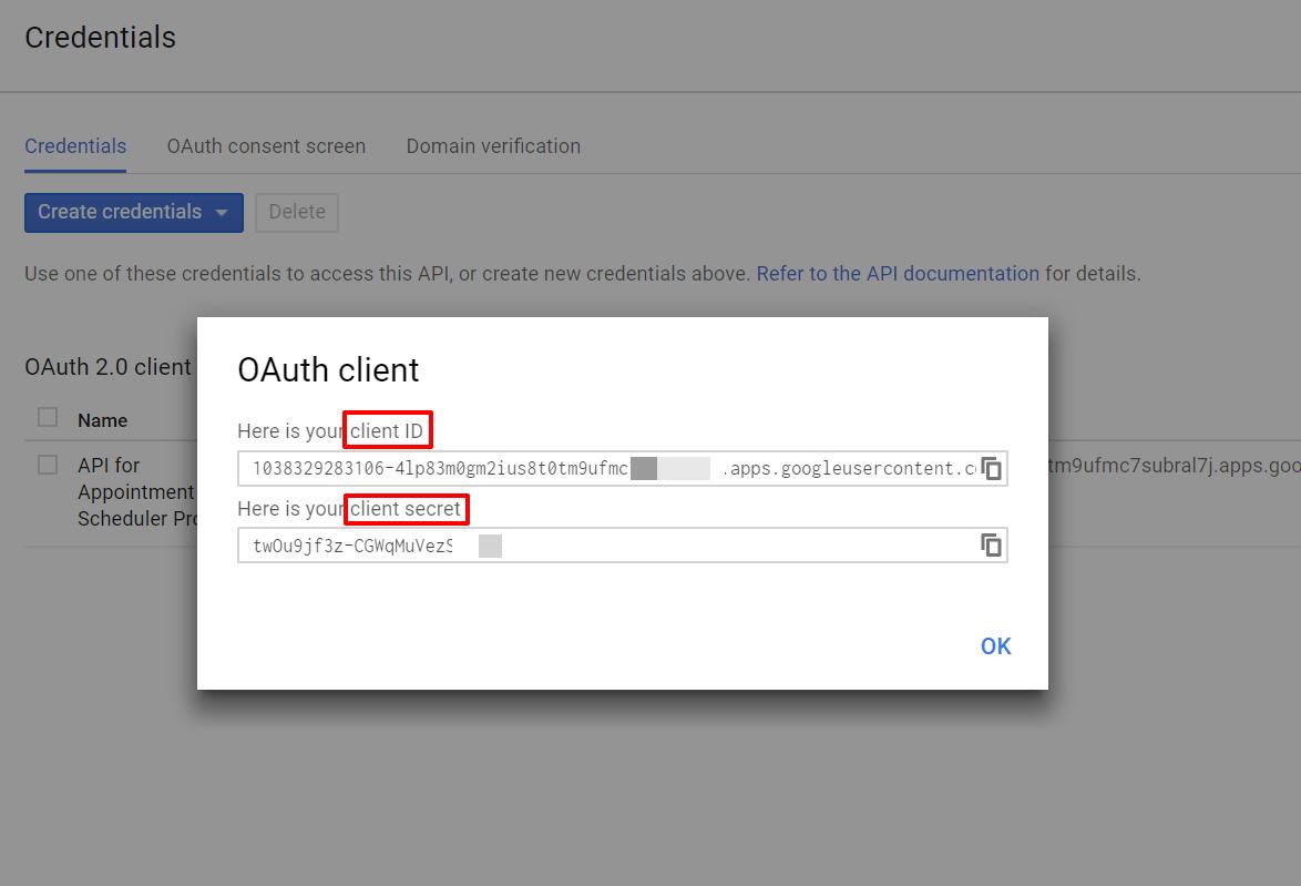 copy client id and secret key