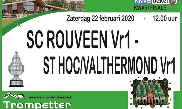 SC Rouveen VR1 bekert tegen St HOC/Valthermond VR1