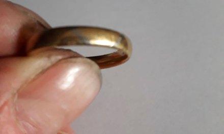 Gouden ring gevonden