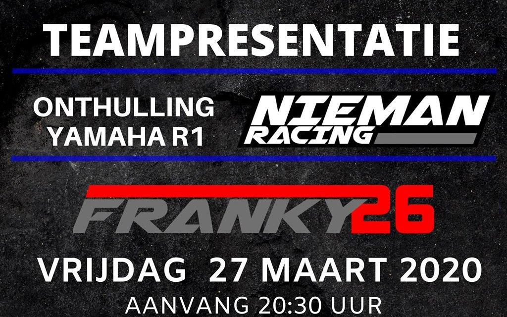 Teampresentatie Nieman Racing 2020 met onthulling Yamaha R1