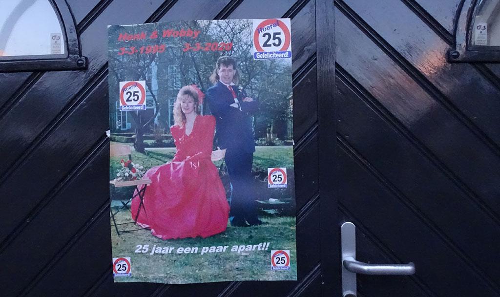 Henk en Wobby Dunnink 25 jaar getrouwd